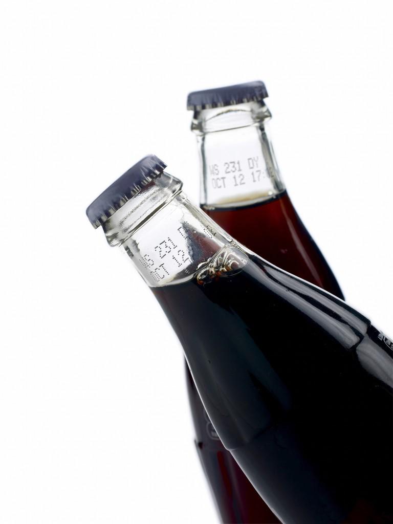 Ink jet on glass bottle