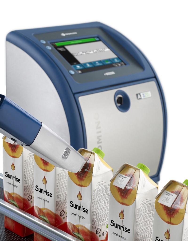 Ink jet on juice packaging