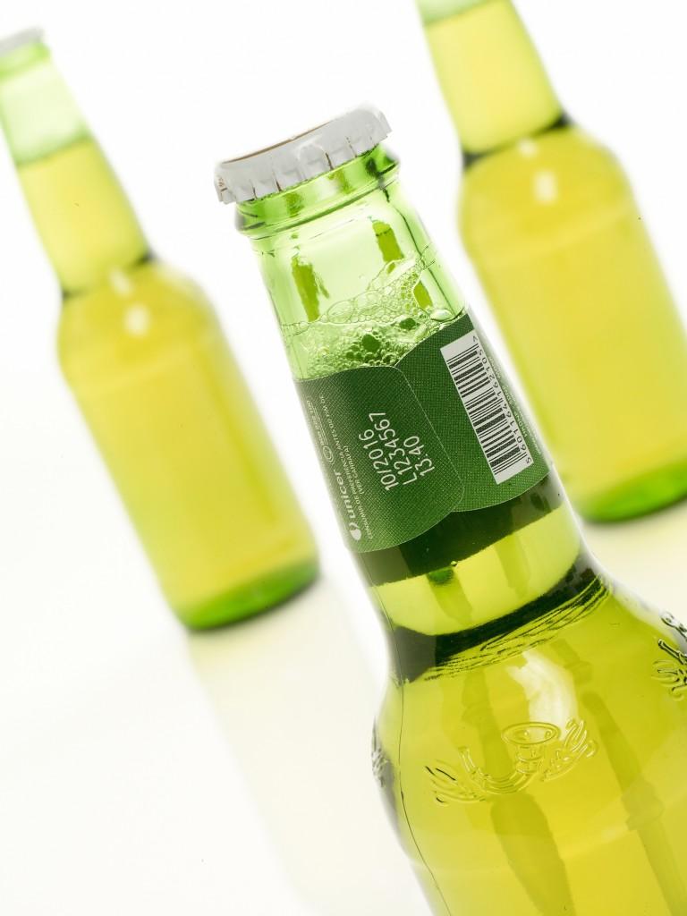 Laser code on bottles