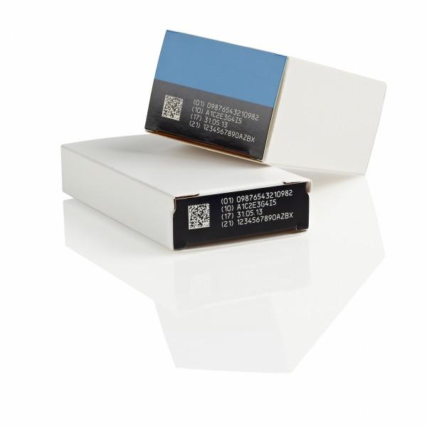 D-Series laser on pharmaceutical cartons